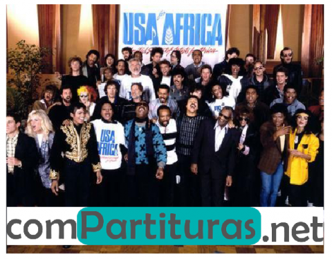 Partitura We Are the World –  Michael Jackson y Lionel Richie (Coro 4 voces).