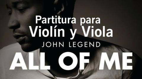 Partitura All of me – John Legend – Violin y Viola