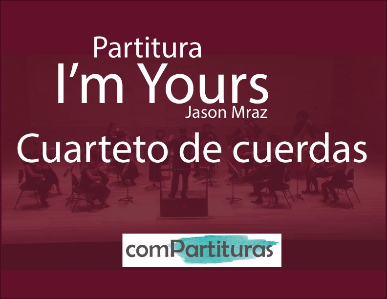 Partitura I'm Yours