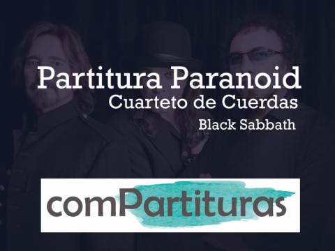 Partituta Paranoid – Black Sabbath – Cuarteto de cuerdas