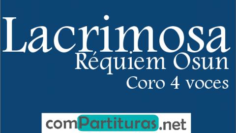 Partitura Lacrimosa – Réquiem Osun – Calixto Álvarez