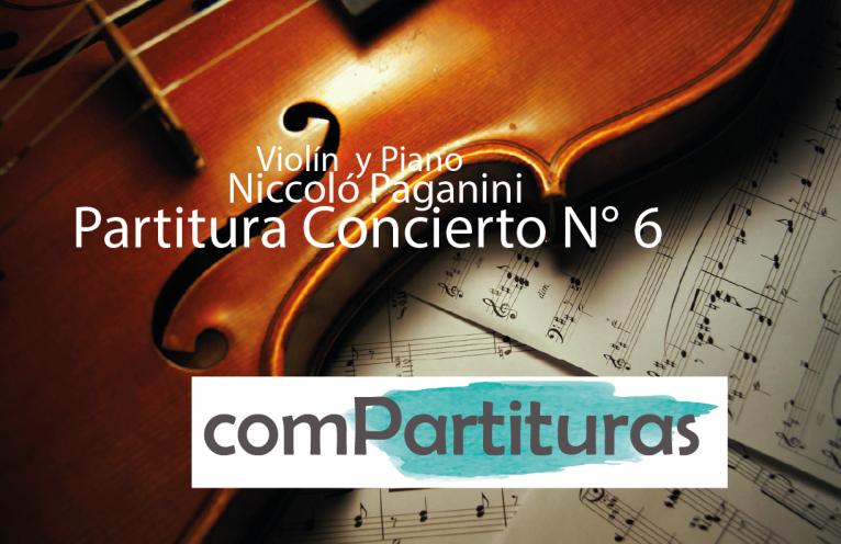 Partitura Concierto N° 6 – Piano y Violín – Paganini