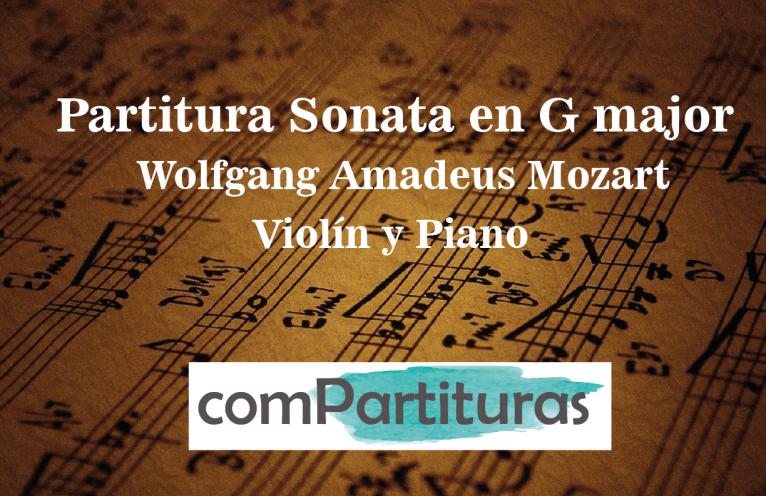 Partitura Sonata en G major – Violín y Piano – W. A. Mozart